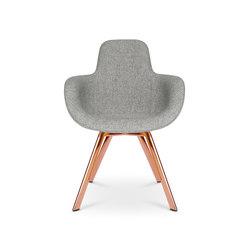 Scoop Chair High Back Copper Leg | Sillas | Tom Dixon