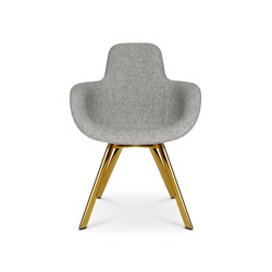 Scoop Chair High Back Brass Leg | Sillas | Tom Dixon
