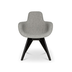 Scoop Chair High Back Black Leg | Stühle | Tom Dixon