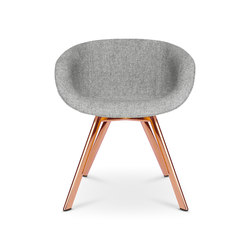 Scoop Chair Low Back Copper Leg | Chairs | Tom Dixon