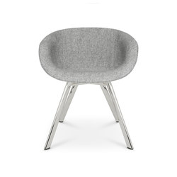 Scoop Chair Low Back Chrome Leg | Sillas | Tom Dixon