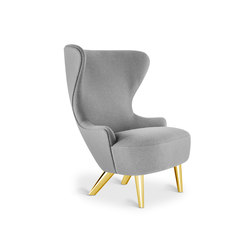Micro Wingback Chair Brass Leg Hallingdal 65 | Sillones lounge | Tom Dixon