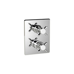 Biarritz | Thermostatic Shower Mixer 2 Outlet | Shower controls | BAGNODESIGN