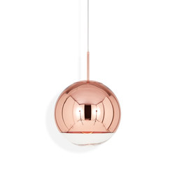 Mirror Ball Pendant Copper 40 cm | Lámparas de suspensión | Tom Dixon