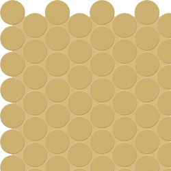 Bold | Mustard Tess. Round | Ceramic mosaics | Marca Corona
