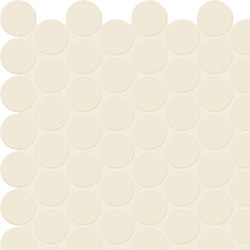Bold | White Tess. Round | Ceramic mosaics | Marca Corona