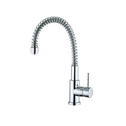 M Line | Kitchen Sink Mixer With Spring Spout | Kitchen taps | BAGNODESIGN