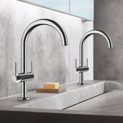 "Atrio One-hole basin mixer 1/2"" L-Size lever handle 
