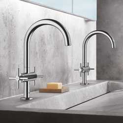 "Atrio One-hole basin mixer 1/2"" L-Size cross handle 