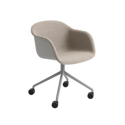 Fiber Armchair | swivel base with wheels | Chaises | Muuto