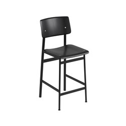 Loft bar chair | black - black | Sgabelli bar | Muuto