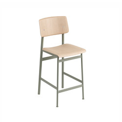 Loft bar chair | oak - dusty green | Bar stools | Muuto