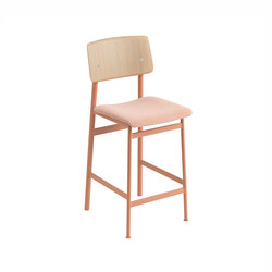 Loft bar chair | oak - dusty rose | Bar stools | Muuto