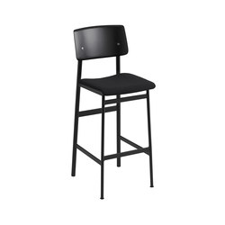 Loft bar chair | black - black | Bar stools | Muuto