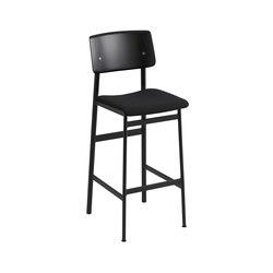 Loft bar chair | black - black | Tabourets de bar | Muuto