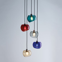 Glass Moons 5 Fall | Suspended lights | Licht im Raum