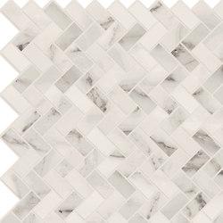 Motif Extra | Calacatta Silver Herringbone Reflex | Piastrelle ceramica | Marca Corona