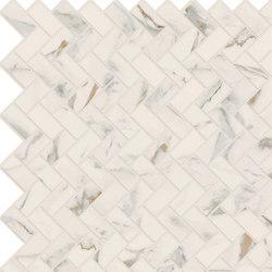 Motif Extra | Calacatta Gold Herringbone Reflex | Keramik Fliesen | Marca Corona