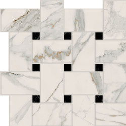 Motif Extra | Calacatta Gold Tess.Treccia Reflex | Ceramic tiles | Marca Corona