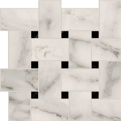 Motif Extra | Calacatta Silver Tess.Treccia Reflex | Keramik Fliesen | Marca Corona