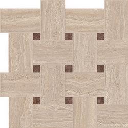 Motif Extra | Travertino Beige Tess.Treccia Reflex | Piastrelle ceramica | Marca Corona