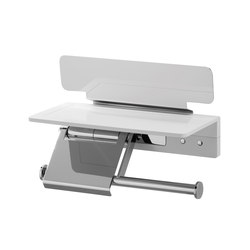 Creativa Toilet paper holder with magazine rack | Paper roll holders | Bodenschatz