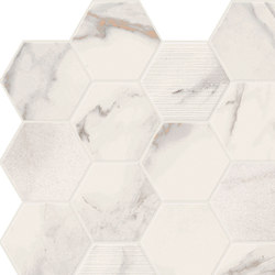 Motif Extra | Calacattagold Hexagone Tessere | Piastrelle ceramica | Marca Corona