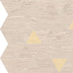 Motif Extra | Calacattabeige Triangle Gold Tess. | Piastrelle ceramica | Marca Corona
