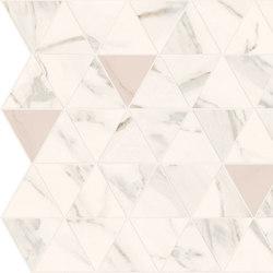 Motif Extra | Calacattagold Triangle Rose Tess. | Keramik Fliesen | Marca Corona