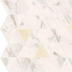 Motif Extra | Calacattagold Triangle Gold Tess. | Keramik Fliesen | Marca Corona