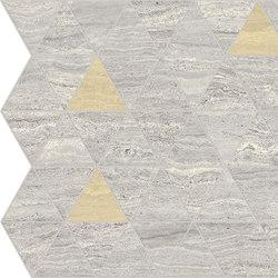 Motif Extra | Calacattasilver Triangle Gold Tess. | Piastrelle ceramica | Marca Corona