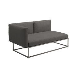 Cloud Left End Unit 75x150cm | Divani | Gloster Furniture GmbH