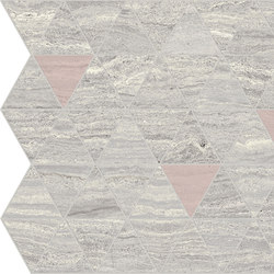 Motif Extra | Calacattasilver Triangle Rose Tess. | Keramik Fliesen | Marca Corona