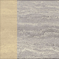 Motif | Travertino Silver Dec.Gold | Piastrelle pietra naturale | Marca Corona