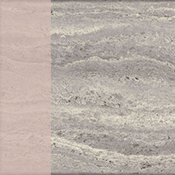 Motif | Travertino Silver Dec.Rose | Piastrelle pietra naturale | Marca Corona