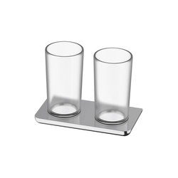 Liv Double glass holder | Toothbrush holders | Bodenschatz