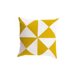 Cushions | Triangle Curcuma/White | Cushions | EGO Paris