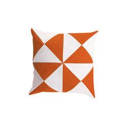 Cushions | Triangle Orange/White | Cushions | EGO Paris