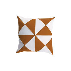 Cushions | Triangle Tawny/White | Cushions | EGO Paris