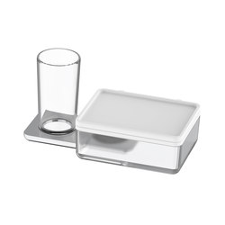 Liv Glass holder and wet wipes/utensils box | Paper towel dispensers | Bodenschatz