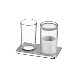 Liv Glass holder and hygiene utensils box | Toothbrush holders | Bodenschatz