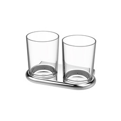 Nia Double glass holder | Toothbrush holders | Bodenschatz