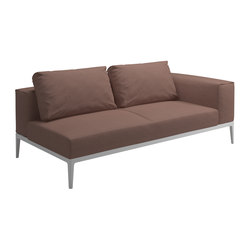 Grid Right End Unit | Garden sofas | Gloster Furniture GmbH