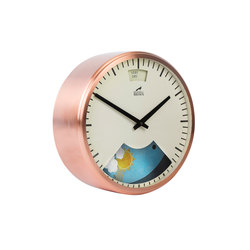Weather Clock, Copper plated Frame | Clocks | Bramwell Brown Clocks