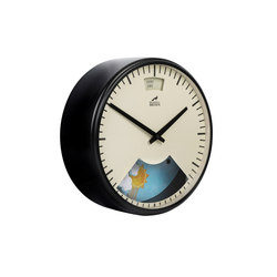 Weather Clock, Midnight Black Frame | Clocks | Bramwell Brown Clocks
