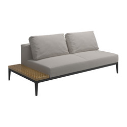 Grid Left / Right End Table Unit   Garden sofas   Gloster Furniture GmbH