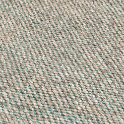 Nordic Drop nature & turquoise | Rugs | kymo
