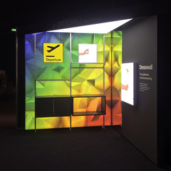 Exhibition | Space design | Illuminated ceiling systems | Dresswall