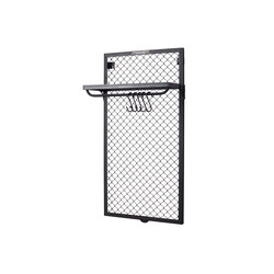WALL MOUNTED COAT RACK MESH | Hook rails | Noodles Noodles & Noodles