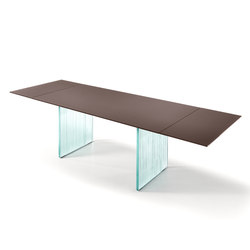 WAVES extendible table | Dining tables | Fiam Italia